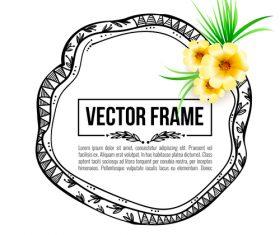 Floral decorative frame design vector material 01