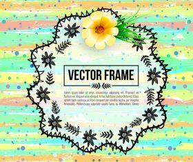 Floral decorative frame design vector material 02
