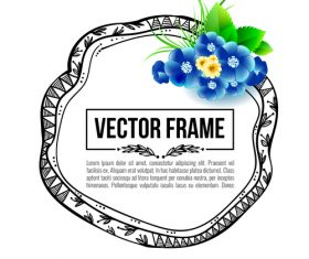 Floral decorative frame design vector material 03