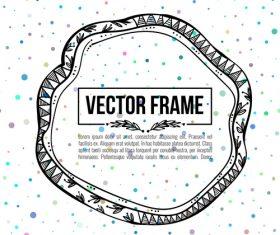 Floral decorative frame design vector material 05