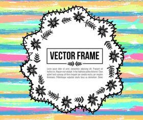 Floral decorative frame design vector material 06