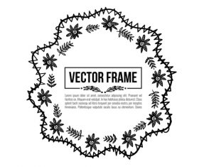 Floral decorative frame design vector material 07