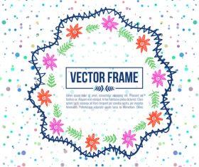Floral decorative frame design vector material 09