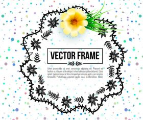 Floral decorative frame design vector material 10