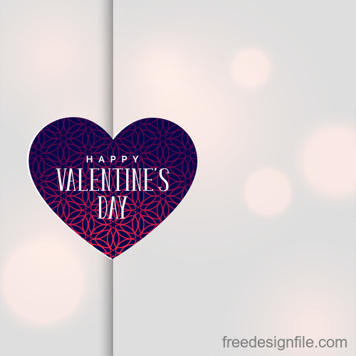 Floral heart shape with valentines day card vector
