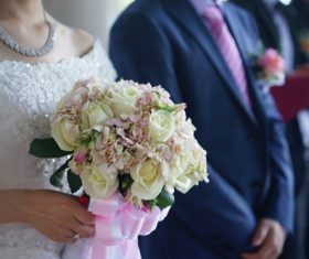 Flowers in the hands of the bride Stock Photo 10