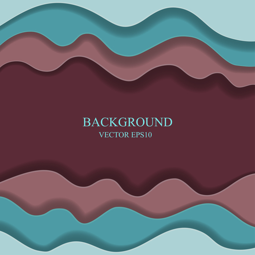 Frame paper layers background design vectors 01