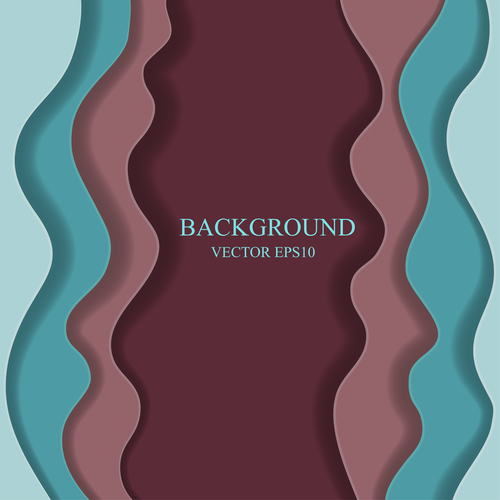 Frame paper layers background design vectors 02