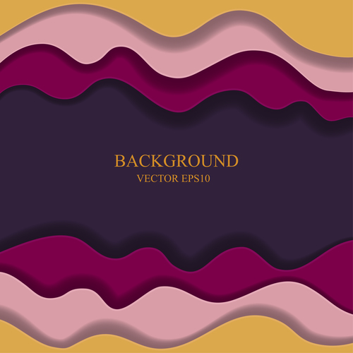 Frame paper layers background design vectors 03