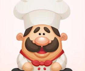Funny cartoon chef vector material