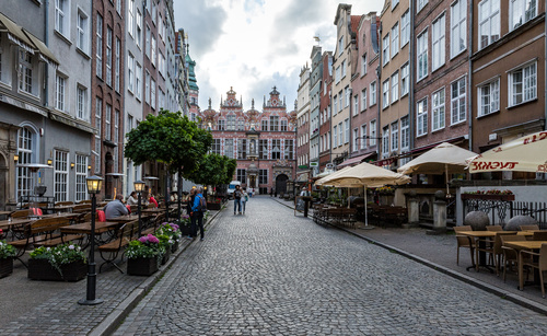 Gdansk landscape Poland Stock Photo 02