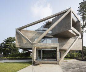 Geometric villa building Stock Photo 01