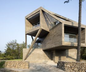 Geometric villa building Stock Photo 02