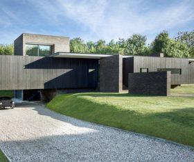 Geometric villa building Stock Photo 03