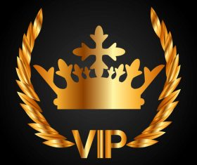 Golden VIP labels luxury design vector 01