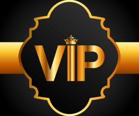 Golden VIP labels luxury design vector 03