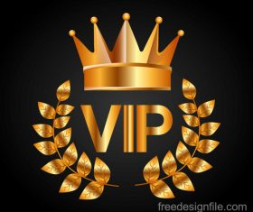 Golden VIP labels luxury design vector 04