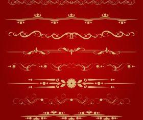 Golden borders decorative vector set 03