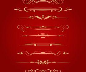 Golden borders decorative vector set 04