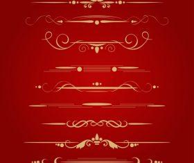 Golden borders decorative vector set 05