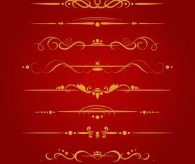 Golden borders decorative vector set 08
