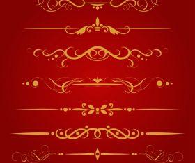 Golden borders decorative vector set 09