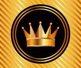 Golden luxury VIP badge vectors set 01