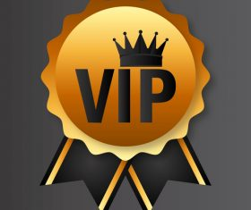 Golden luxury VIP badge vectors set 08