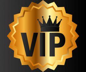 Golden luxury VIP badge vectors set 09