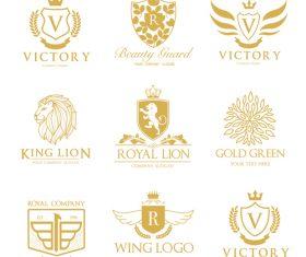 Golden luxury logos design vector