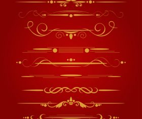 Golden ornament illustration vectors 03