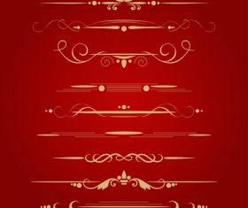 Golden ornament illustration vectors 05