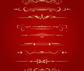 Golden ornament illustration vectors 06