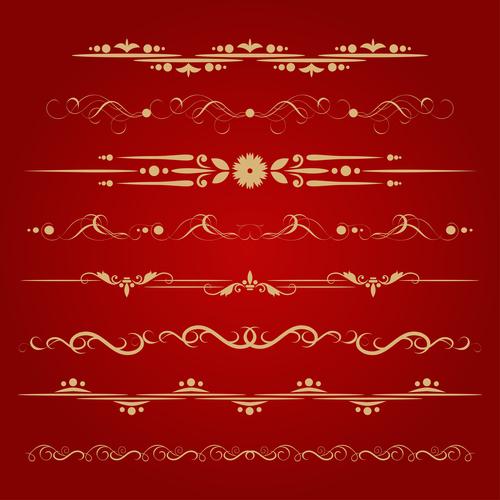 Golden ornament illustration vectors 08