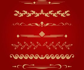 Golden ornament illustration vectors 09