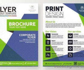 Green flyer template design vectors 01