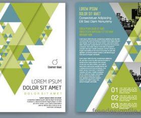 Green flyer template design vectors 02