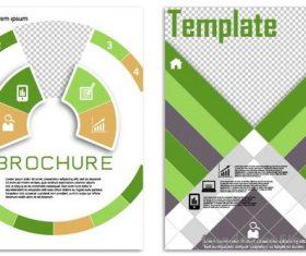 Green flyer template design vectors 03