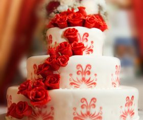 Handmade wedding cake Stock Photo 01