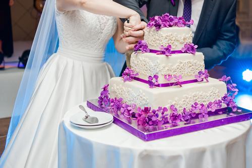 Handmade wedding cake Stock Photo 02