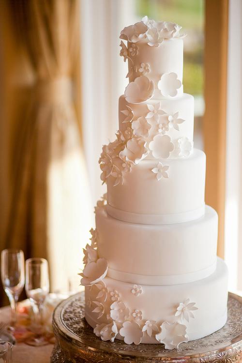 Handmade wedding cake Stock Photo 04