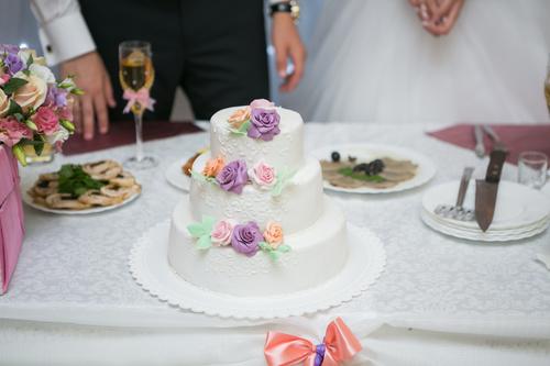 Handmade wedding cake Stock Photo 05