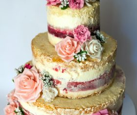 Handmade wedding cake Stock Photo 06