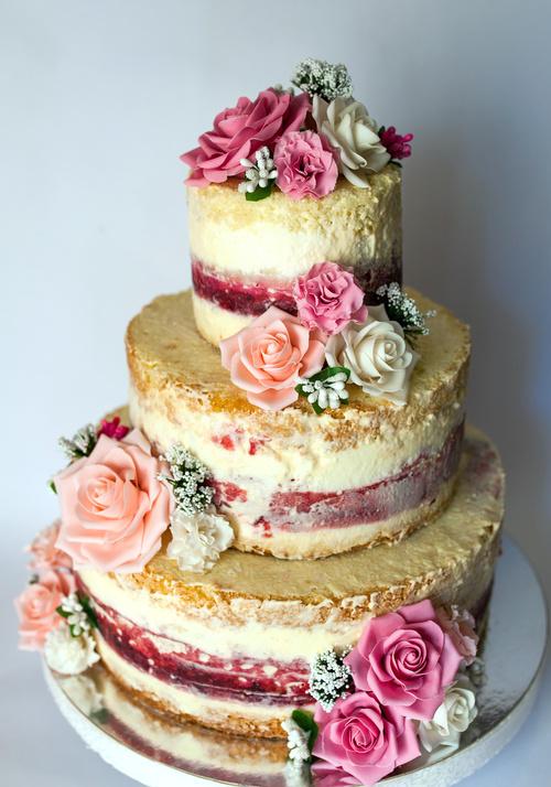 Handmade wedding cake Stock Photo 06
