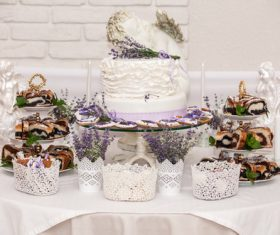 Handmade wedding cake Stock Photo 07