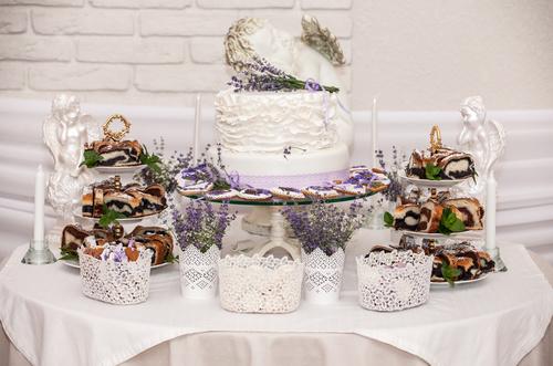 Handmade wedding cake Stock Photo 07