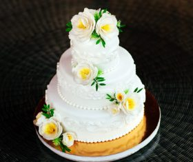 Handmade wedding cake Stock Photo 08
