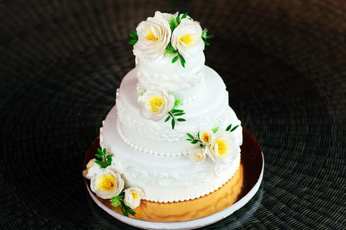 Handmade wedding cake Stock Photo 08