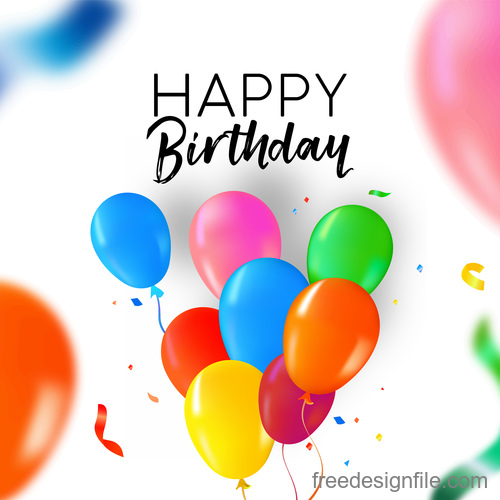 Happy Birthday Balloons Generic Background vector