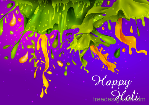 Happy holi festival colorful background vector 09